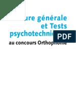 FeuilletageCulture Générale Et Tests Psychotechniques Au Concours ...