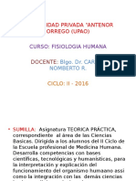 Clase Inaugural Fisiologia 2016