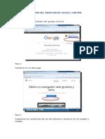 Guia de instalacion del Chrome
