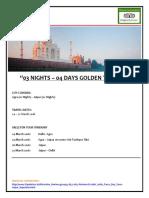 03 Nights – 04 Days Golden Triangle