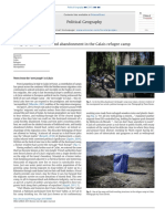 Davies, Isakjee - 2015 - Geography, Migration and Abandonment in the Calais Refugee Camp