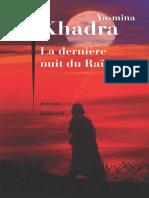 Yasmina Khadra La Derniere Nuit Du Raes