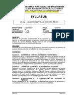 Ee-354 Analisis de Sistemas de Potencia II