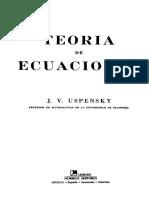 Libro.teoría de Ecuaciones - J.v.uspensky