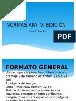 Normas Apa, Vi Edición