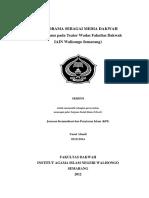 Seni Drama Sebagai Media Dakwah (Studi Kasus Pada Teater Wadas Fakultas Dakwah IAIN Walisongo Semarang)