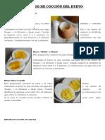 Métodos de Cocción Del Huevo