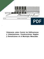 2. Ordenanza Sobre Control de Edificaciones