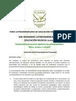 - Instructivo Para Presentacion de Propuestas - XXII SLDEM 2016