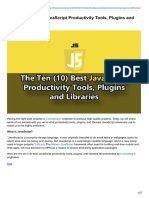 The Ten (10) Best JavaScript Productivity Tools, Plugins and Libraries