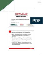 Whats New in Primavera P6 Pro v8.1 Webinar