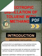 Azeotropic Distillation of Toluene With Methanol