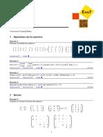 Calculs Sur Les Matrices