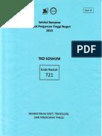 Soal Sbmptn 2015 Tkd Soshum 721