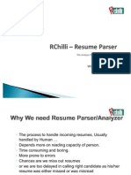 RChilli - Resume Parser