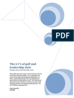 The 6 Cs of Golf and Leadership Style