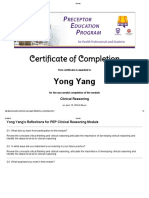 1 clinical certificate