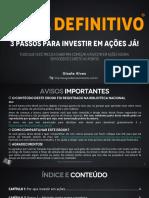 Guia Definitivo Três Passos Pra Investir Em Ações Já Ed 1
