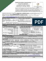 Annual Renewal Occupational Health Form