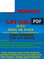 84664054 Tabel Kematian the Life Tables