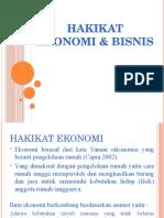 Hakikat Ekonomi Dan Bisnis