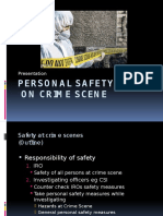 Personal Safety at Crime Scene