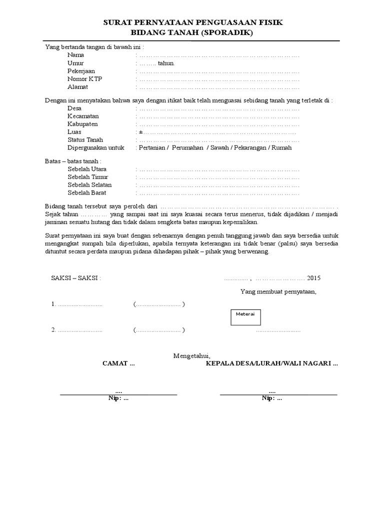 Surat Kuasa Ahli Waris Bank Doc Suratsuratxyz