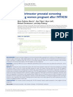 First Trimester Prenatal Screening Among Women Pregnant After IVFI CSI
