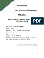 Dimension Etico Politica de La Praxis Docenteprograma