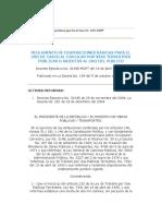 Reglamento de disposiciones básicas para el uso de casco al
