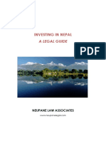 Investing in Nepal - A Legal Guide_JAN 2016