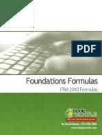 2010.T1. Foundations Key Formulas