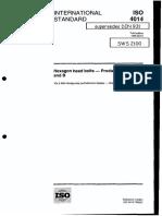 ISO 4014-1999 Hexagon Head Bolts