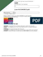 PASO a PASO_ Telas Para PATCHWORK & Quilt