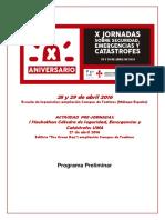 X Jornadas sobre Seguridad, Emergencias y Catástrofes - Málaga, 28 y 29 de abril de 2016