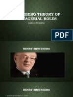 Mintzberg Theory of Managerial Roles
