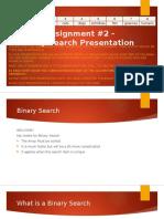 T4W3 Assignment #2 - Binary Search Presentation