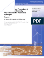 Wind Energy & Production of Hydrozen and Electricity