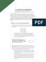 5 manières de mémoriser rapidement - wikiHow.pdf