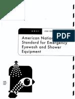 Ansi z358.1-2004 Safety Shower