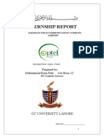 Internship Report (PTCL)
