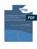 Synthese Documentaire Intercariforef Developpement Durable