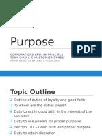 Good Faith and Proper Purpose