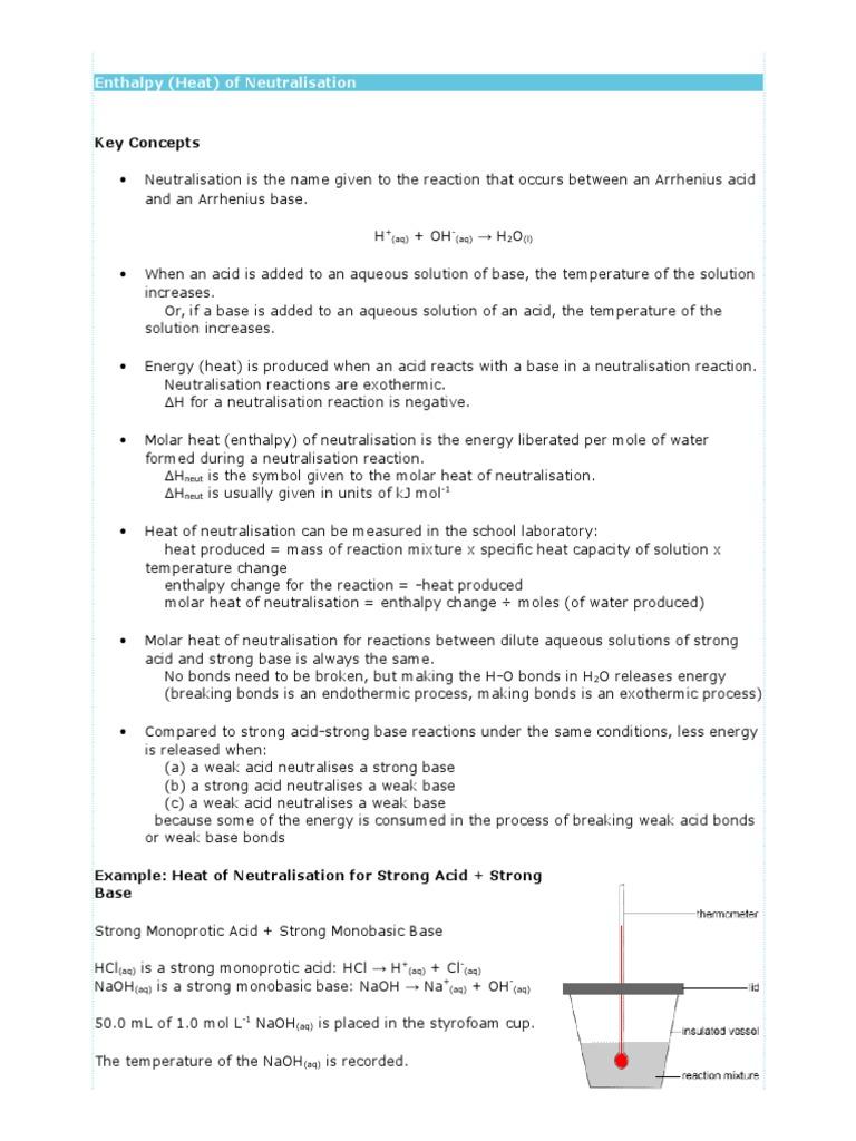 Enthalpycx acid molar concentration buycottarizona Image collections
