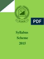 PIPFA New Syllabus 2015