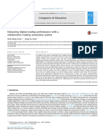 Enhancing digital reading performance with acollaborative reading annotation system