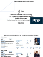Black Republicans 2010 Candidates Contact Information