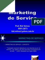 MKT Serviço Conceitos - Características - Prof. Kid