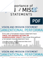 The Importance of Vision and Mission Statement