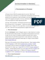 Male Discrimination in Romania